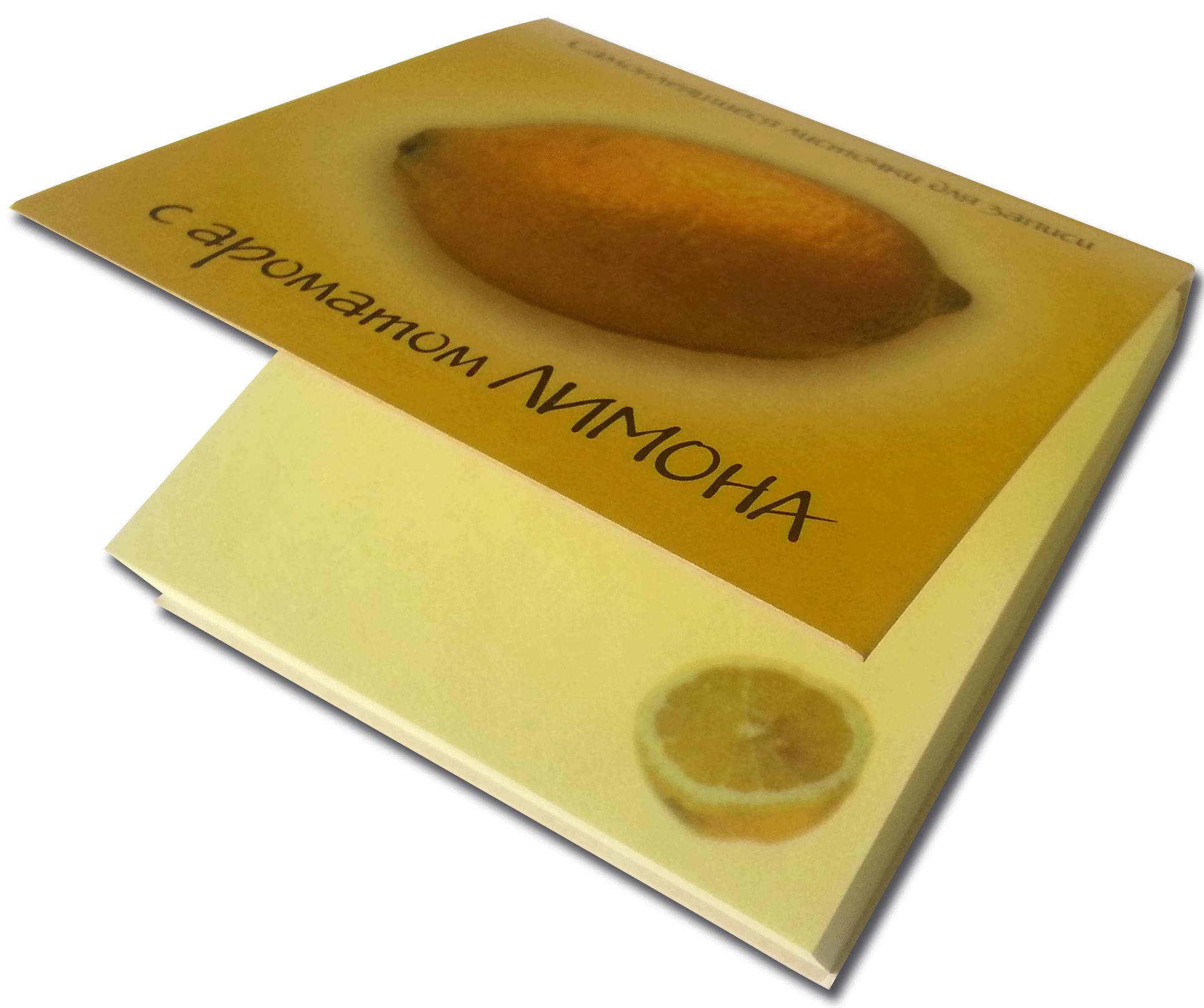 Блок самоклеящийся с ароматом лимона